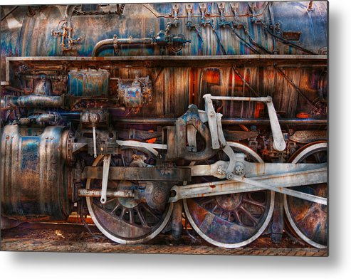 Savad Metal Print featuring the photograph Train - With Age Comes Beauty by Mike Savad