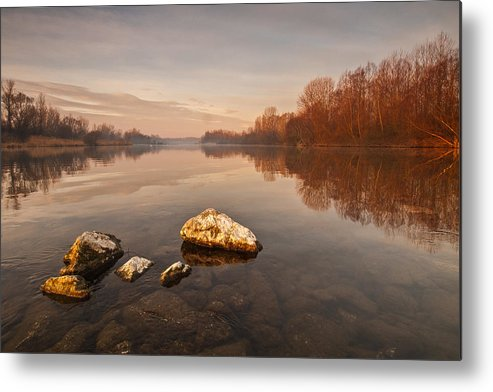 Landscape Metal Print featuring the photograph Tranquility by Davorin Mance