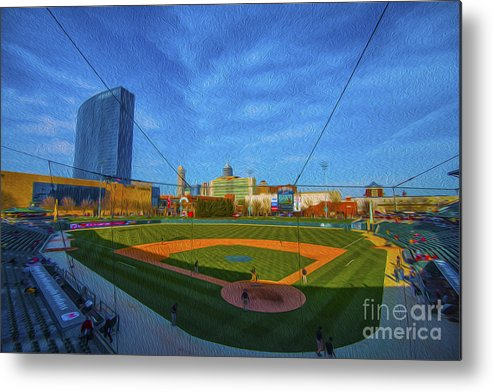 Victory Field Metal Print featuring the photograph Victory Field Home Plate by David Haskett