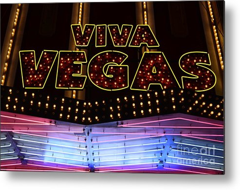 Viva Vegas Metal Print featuring the photograph Viva Vegas Neon by Bob Christopher