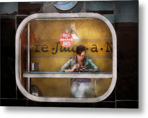 Savad Metal Print featuring the photograph Window - Hoboken Nj - Hale And Hearty Soups by Mike Savad
