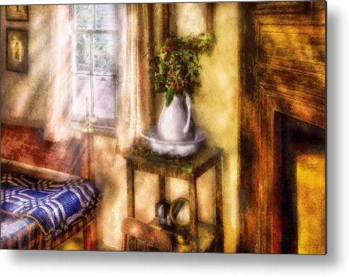 Savad Metal Print featuring the digital art Winter - Christmas - Early Christmas Morning by Mike Savad