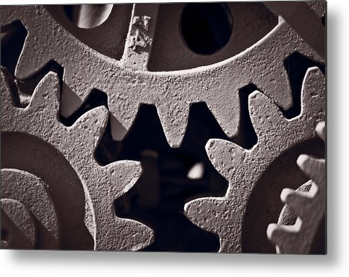 Gear Metal Print featuring the photograph Gears Number 2 by Steve Gadomski