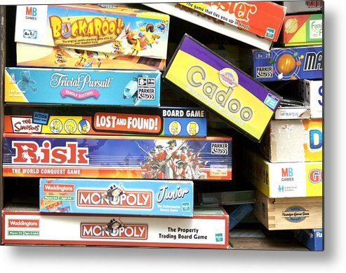 Game Metal Print featuring the photograph Indoor Games by Johnny Greig