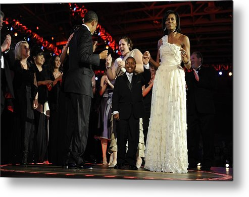 History Metal Print featuring the photograph President And Michelle Obama Dance by Everett