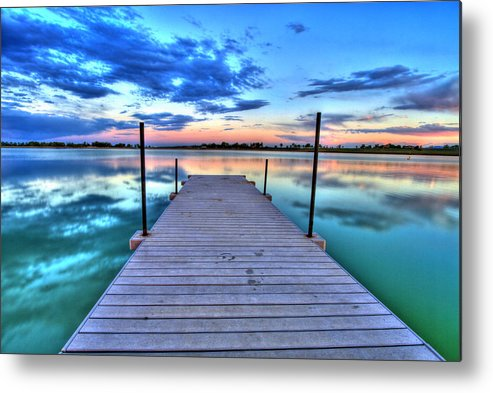 Colorado Metal Print featuring the photograph Tranquil Dock by Scott Mahon