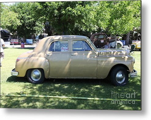 Transportation Metal Print featuring the photograph 1949 Plymouth Delux Sedan . 5d16208 by Wingsdomain Art and Photography