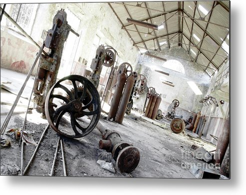 Abandoned Metal Print featuring the photograph Abandoned Factory by Carlos Caetano