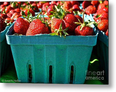 Food Metal Print featuring the photograph Blue Box by Susan Herber