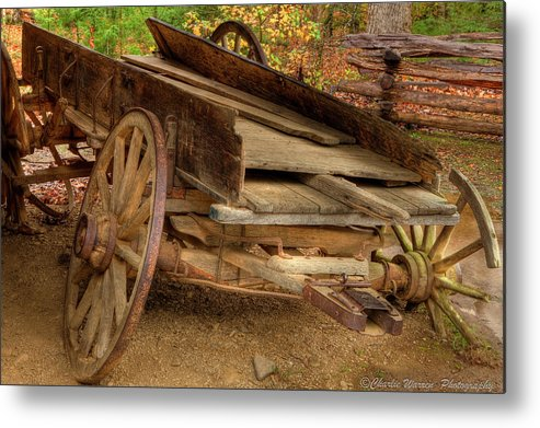 2010 Metal Print featuring the photograph Broke Spoke I by Charles Warren