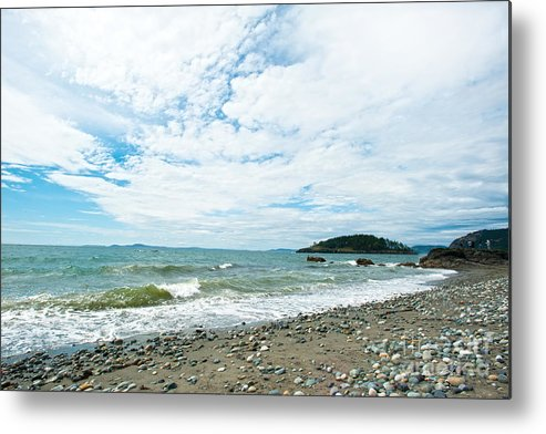 Rocky West Coast Beach Shore Metal Print featuring the photograph Constant by Artist and Photographer Laura Wrede