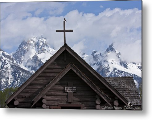 Chaple Of Transfiguration Metal Print featuring the photograph Cross Bird by Charles Warren