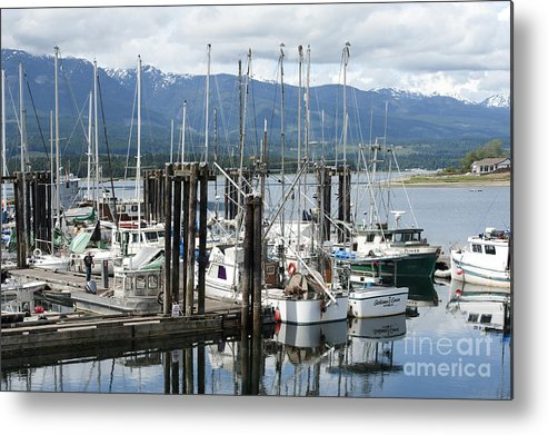 Deep Bay British Columbia Metal Print featuring the photograph Deep Bay Harbor by Artist and Photographer Laura Wrede