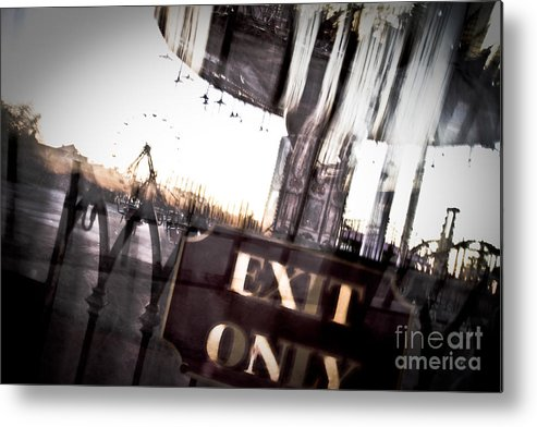 New Orleans Metal Print featuring the photograph Exit Only by Pixel Perfect by Michael Moore