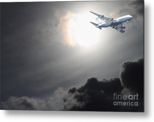 Sky Metal Print featuring the photograph Flying The Friendly Skies by Wingsdomain Art and Photography
