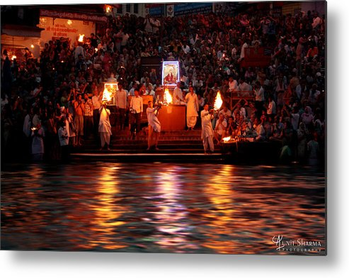 India Metal Print featuring the photograph Haridwar by Aunit Sharma