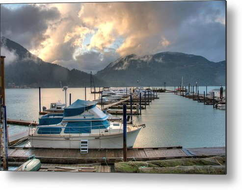 Harrison Metal Print featuring the photograph Harrison Lake At Dusk by Lawrence Christopher