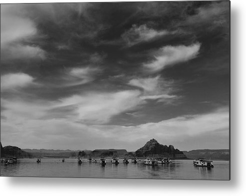 Nature Metal Print featuring the photograph Houseboats On Lake Powell by Andrew Soundarajan