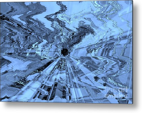 Blue Abstract Metal Print featuring the photograph Ice Blue - Abstract Art by Carol Groenen