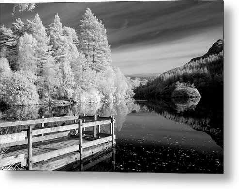 Horizontal Metal Print featuring the photograph Infrared Glencoe Lochan by Billy Currie Photography