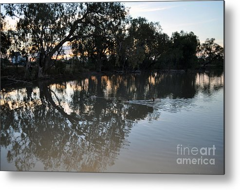 Lagoon Metal Print featuring the photograph Lagoon At Dusk by Joanne Kocwin