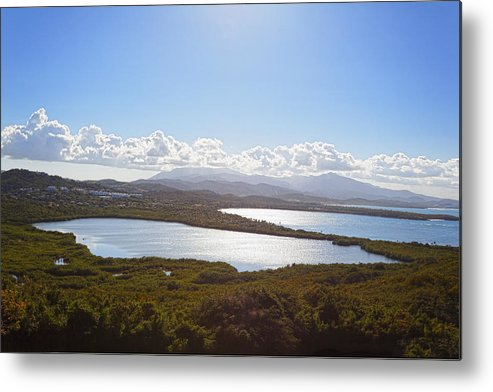 Bioluminescent Metal Print featuring the photograph Laguna Grande by George Oze