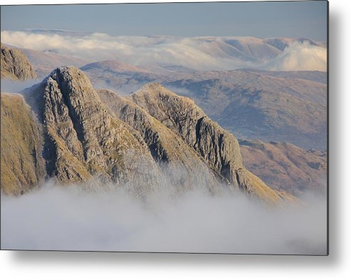 Langdale Metal Print featuring the photograph Langdale Pikes by Stewart Smith