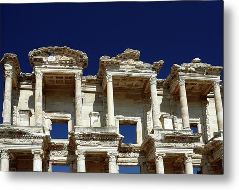 Library Of Celsus Metal Print featuring the photograph Library Of Celsus In Ephesus by Sally Weigand
