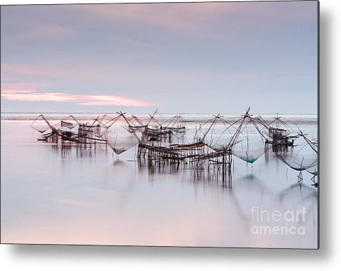 Agriculture Metal Print featuring the photograph Native Asian Fishery by Buchachon Petthanya