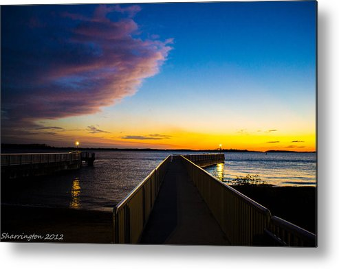 Pier Metal Print featuring the photograph Night Approaches by Shannon Harrington