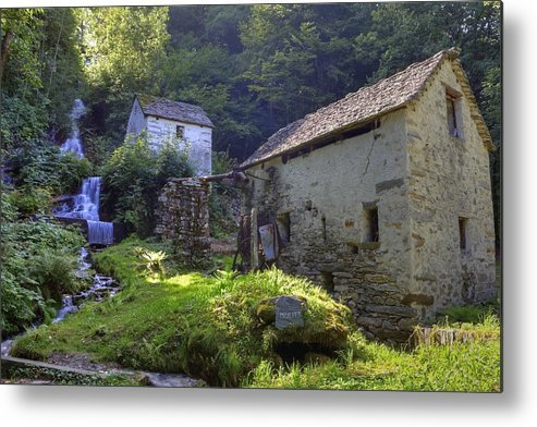 Moghegno Metal Print featuring the photograph Old Watermill by Joana Kruse