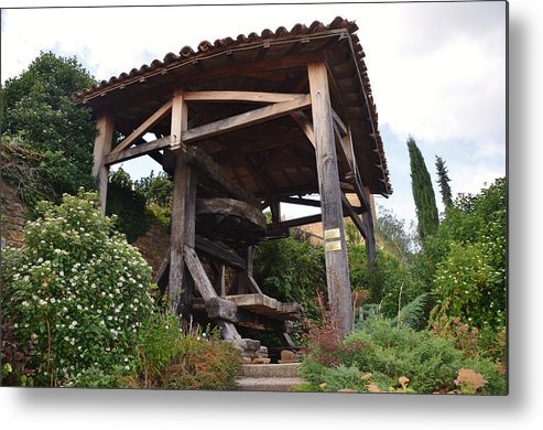 Agriculture Metal Print featuring the photograph Old Wine Press by Dany Lison