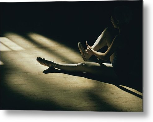 Anatomy Metal Print featuring the photograph Partially Hidden In Shadow, A Ballet by Robert Madden