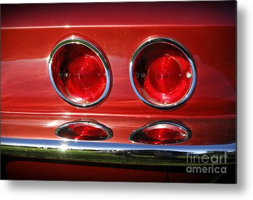 Corvette Metal Print featuring the photograph Red Hot Vette by Luke Moore