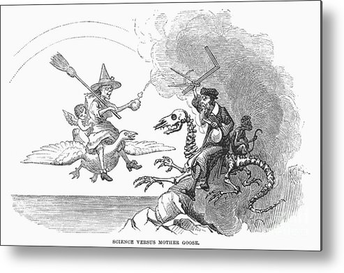 1876 Metal Print featuring the photograph Science Vs. Mother Goose by Granger