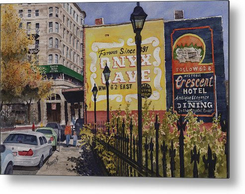 Spring Street Metal Print featuring the painting Spring Street At Basin Park by Sam Sidders