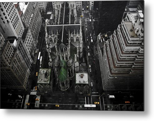 Palace Hotel Metal Print featuring the pyrography St. Patricks Cathedral by Marcel Krasner