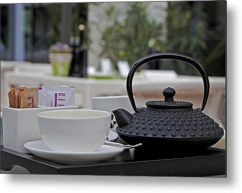 Chair Metal Print featuring the photograph Tea Time by Joana Kruse