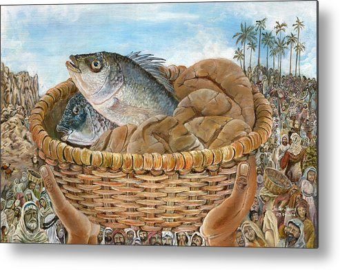 Jesus Metal Print featuring the painting The Provider by Trister Hosang