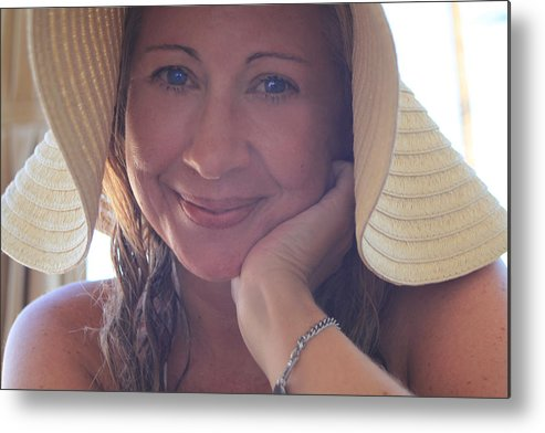 Woman Metal Print featuring the photograph This Smile Was For You by Laurie Search