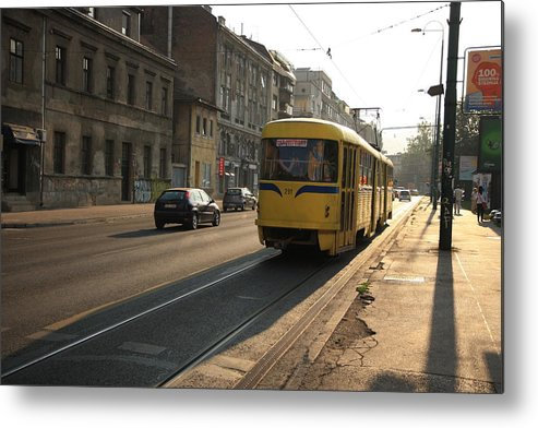 Sarajevo Metal Print featuring the photograph Tramway In The Morning Light by Frederic Vigne