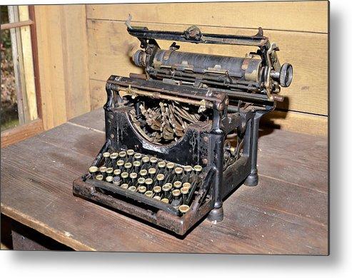 Metal Print featuring the photograph Vintage Typewriter by Susan Leggett