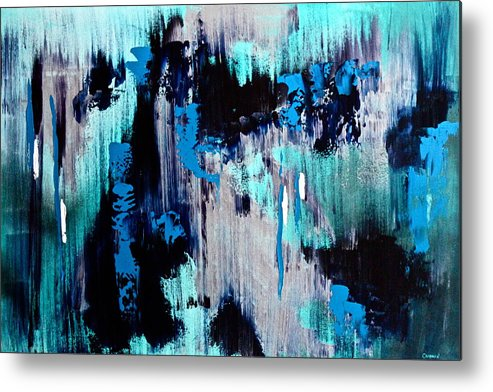Original Metal Print featuring the painting White Noise by Eric Chapman