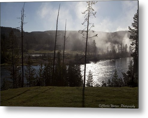 Yellowstone Metal Print featuring the photograph Yellowstone Morning by Charles Warren