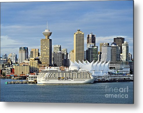 Business Metal Print featuring the photograph Vancouver Skyline by John Greim