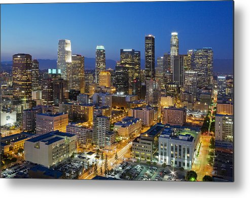 Los Angeles Metal Print featuring the photograph A Night In L A by Kelley King