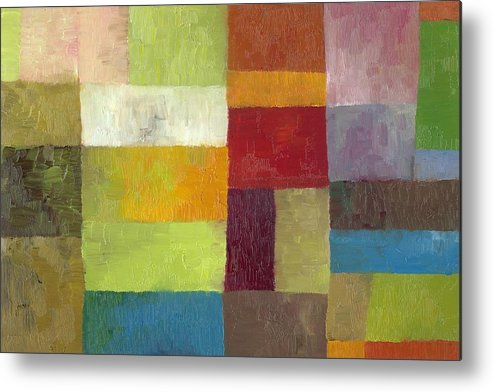 Abstract Metal Print featuring the painting Abstract Color Study Lv by Michelle Calkins