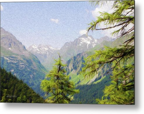 Alpine Metal Print featuring the painting Alpine Altitude by Jeff Kolker