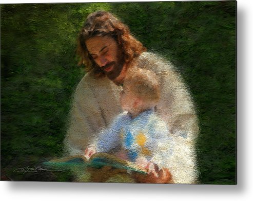Jesus Metal Print featuring the painting Bible Stories by Greg Olsen