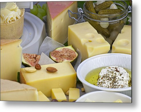 Cheese Metal Print featuring the photograph Cheese Plate by Joana Kruse